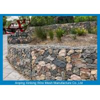 Quality Galvanized Rock Gabion Wire Mesh PVC Coated Gabion Baskets For Riverbed for sale