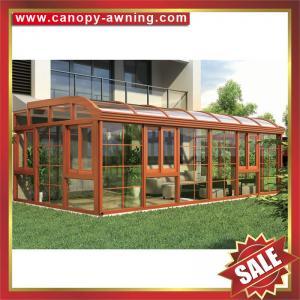 China prefab solar Sunroom,garden tempered glass metal aluminium alloy alu sun room house for villa-super durable! on sale