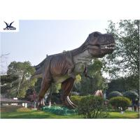 Quality Attractive Dinosaur Lawn Statue For Jurassic Park , Decorative Animal Garden Ornaments  for sale