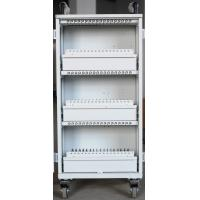Quality Easy Unload White Beautiful Apple Ipad Cart 54 Units Durable For Bank / Office for sale