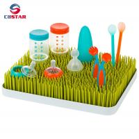 Buy cheap Rectangle plastic countertop baby bottle drying rack green grass rack from wholesalers