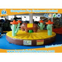 Buy cheap 0.55mm PVC Tarpaulin Inflatable Sport Games , 5*5m Inflatable Rodeo Bull from wholesalers