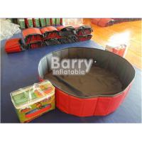 Quality Red PVC Foldable Dog Pet Inflatable Swimming Pool Customized Size for sale