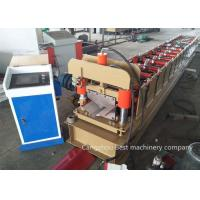 Buy cheap Metal Roof Ridge Cap Roll Forming Machine 8-12m/Min Speed PLC Control System from wholesalers