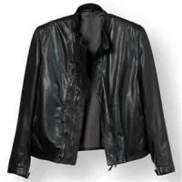Quality Winter S M L XL XLL Fleece Lined Leather cowhide 100% poly canvas jacket men for sale