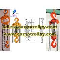 Quality Chain pulley blocks is durable with competitve price for sale