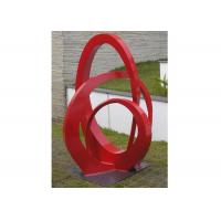 Buy cheap Public Park Stainless Steel Sculpture Red Painted Abstract Metal Sculpture from wholesalers