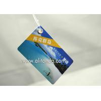 Quality Cheap and easy paper card style hard pvc luggage tag custom and supply with any logo image words print for sale
