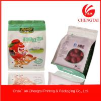 Quality Ziplock Side Gusseted Plastic Flat Bottom Pouches for Cookie / Snack 250 G for sale