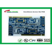 Quality 2 Layer PCB Board Immersion gold + plating gold fingers Blue solder mask for sale