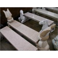 Quality Animal Status, Cat Carving Stone Bench, Granite Stone Sculpture for sale