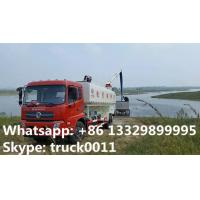 Quality Dongfeng 4*2 LHD Euro 4 fish feed delivery truck for sale, factory direct sale electronic auger discharging feed truck for sale