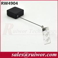 Quality Anti Theft Tether Plastic Pull Box Square Shaped With Sticky Metal Plate for sale