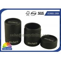Quality Personalized 3 Pieces Black Rigid Paper Cans Packaging Fancy Cylinder Gift Boxes for sale