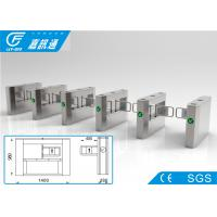 Quality Semi - Auto Access Control Turnstile Gate , Railway Station Vertical Swing Barrier Gate for sale