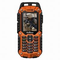 Quality Rugged GPS navigation Mobile Phone with Dual Sim Card, Meets IP57 Water-resistant Standard for sale