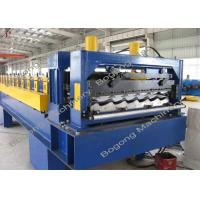 China Heavy Duty Metal Roof Tile Roll Forming Machine Touch Screen Control on sale