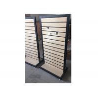 Quality Metal Frame Slatwall Display Stand Two Sides 1200 * 450 * 1380MM Multi - Funcutional for sale