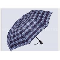 Quality Indestructible Adult Casual 2 Fold Umbrella Gold Silk Waterproof England Gird Pattern for sale