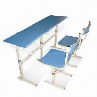 Quality Student Desk with Steel Frame and Adjustable Height, Easy to Assemble for sale
