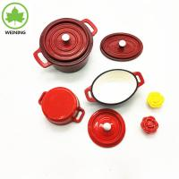 China Red Enamel Cast Iron Round Casserole on sale