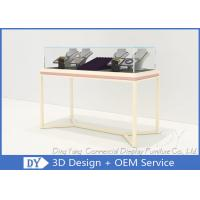 Quality Pre Assemble Wood Glass Jewelry Showcases Fixtures For Jewelry Shop Display for sale
