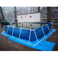 Quality BGO 4M * 3M * 0.8M Rectangle Shape Tarpaulin Fish Tank Steel Frame With Liner for sale