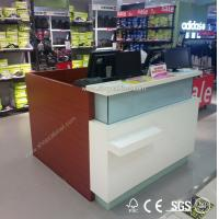 Quality High end cash desks checkout counter display cabinet for sale