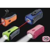 Quality Dynamo Flashlight with Laser Light for sale