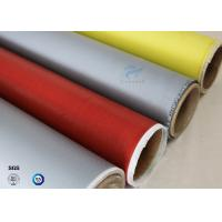 Quality 260℃ High Temperature E-glass Satin/Twill Silicone Coated Fiberglass Fabric for sale