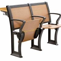 Quality Iron And Wood University School Desk And Chair Size 1085 * 870 * 870 mm for sale