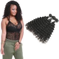 China Smooth Healthy Deep Wave Hair Bundles 16 Inch Without Chemical Processed on sale
