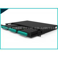 Quality Pre - Termianted Fiber Enclosure Rack Mount 4RU Panel 12 x 6 Ports MPO 3.0mm Cable for sale