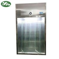 Quality Stainless Steel Laminar Air Flow System Sampling Booth With Antistatic Curtain Door for sale