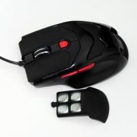 Buy Black HUANYU Switch USB Wired Gaming Mouse , high dpi mouse 600 1000 1600 at wholesale prices