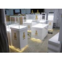 Quality Retail Shop Museum Display Cases High Glossy White Color 12V Output Power for sale