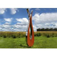 Buy cheap Outdoor Modern Corten and Stainless Steel Sculpture For Garden Decoration from wholesalers