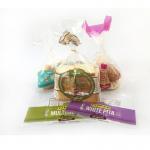 Quality Hot Sale Custom Printing PE plastic transparent bread wicket bag for sale