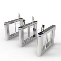 Quality SS Housing Turnstile Barrier Gate , Access Control Security Swing Gate for sale