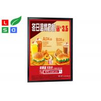 China Black Colored LED Snap Frame Light Box Single Sided LED Clip Frame For Menu Poster Display on sale