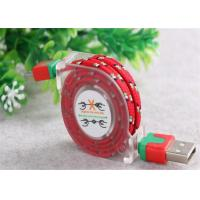 Quality Customized USB To Micro USB Retractable Cable , Fabric Braided Micro USB Cable for sale