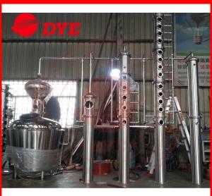 Quality 500L Copper Distillation Column Distillery Equipment Vodka Distillery for sale