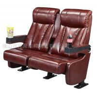 Quality Luxury Leather Home Theater Chair / Movie Theater Seats With 2.0mm Steel Leg for sale