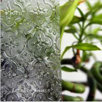 Quality 3mm to 8mm Flora Patterned Glass, Rolled Glass, Figured Glass with Certificate ISO and BV for sale