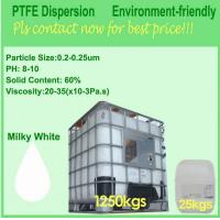 Buy PTFE Teflon Dispersion With High Molecular Weight For Impregnation Of Glass Fiber at wholesale prices