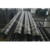 Steel Sand Control Screens , Perforated Stainless Pipe With Round Slot And Square