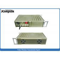 Quality Vehicle COFDM Transmitter , 100-200km Military Long Range Video Transmitter 20W RF for sale