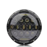 Quality 7 Inch LED Driving Lights 3200LM High Bream / 2000lm Low Beam Round Shape for sale