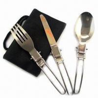 Quality Cutlery Set for Picnic, Made of Stainless Steel for sale