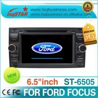 Quality 6.5 Inch PIP 3G Dual Zone Ford DVD GPS With IPOD / smart TV / music player for FORD FOCUS ST-6505 for sale
